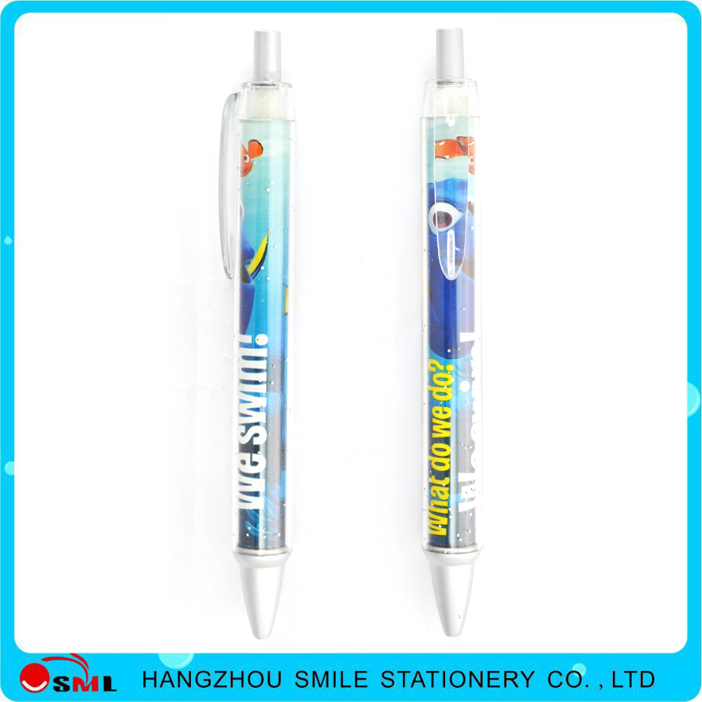 pen with paper inside transparent tube for promotional
