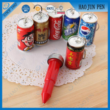 Cute And Fashionable Can Shape Pen Key Chain Ball Pen for Advertising