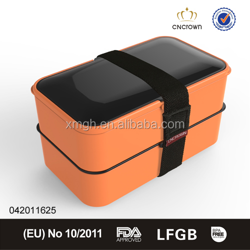 indian loved plastic tiffin box with elastic belt