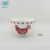 OEM custom logo round shape embossed decal red christmas ceramic soup bowl