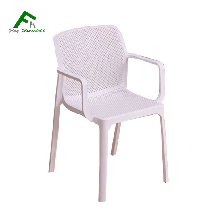 Modern Strong Garden Outdoor Stacking PP Plastic Arm Chair