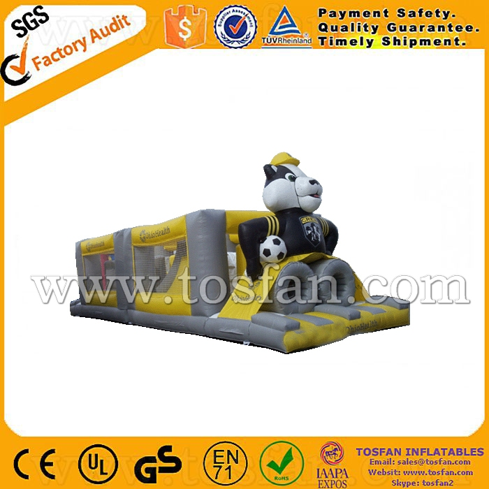 Outdoor toys customized inflatable game inflatable obstacle course A5007