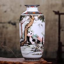 Цзиндэчжэнь керамическая ваза в винтажном китайском стиле ваза с животными тонкая гладкая поверхность украшения дома предметы интерьера(Китай)
