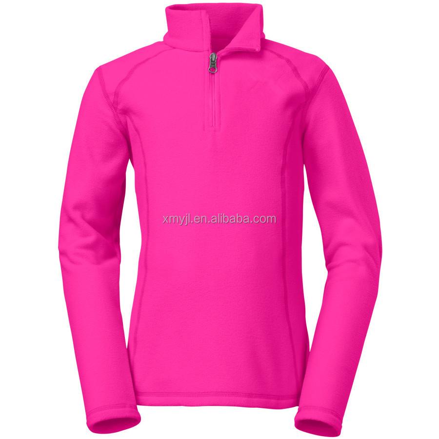 2014 Hotselling No Hood Half Zip Fleece Jacket Womens Fleece ...