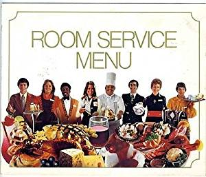 1997 Marriott Hotels Room Service Menu