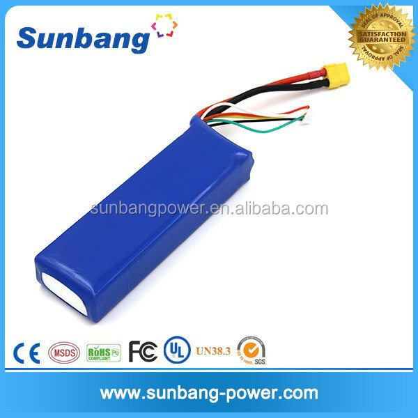 high discharge current 20C 4S 14.8v 2650mah lipo rc battery for rc boat catamaran hulls