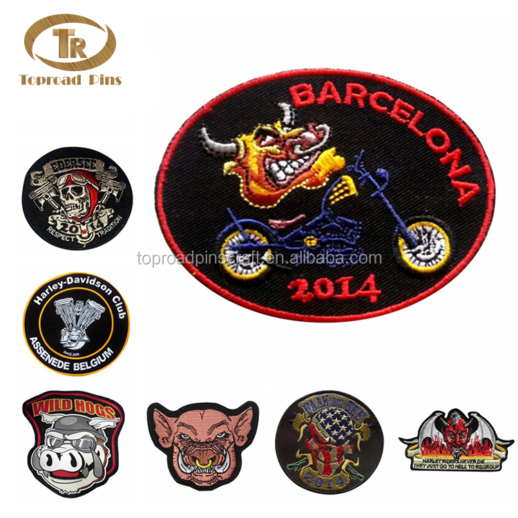 Hot sale custom logo shoulder chest back embroidered patch for clothing