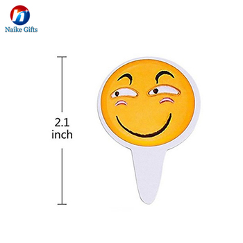 Happy Birthday With Emoji Design Paper Cake Topper Decoration Wholesale