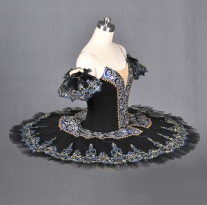 Professional Girls Stage Performance Ballet Dance Costumes Black Swan Tutu