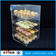 China manufacture counter top 4 tiers clear acrylic bread display rack