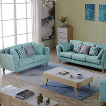 Wooden furniture 7 seaters living room fabric sofa set designs in pakistan