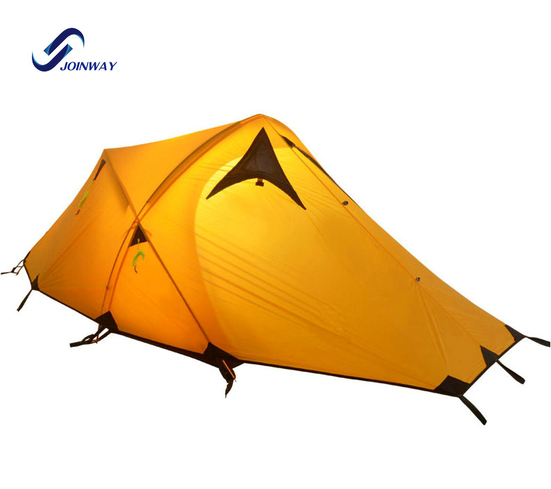 JWJ-036 China supplier 4 season ultralight nylon aluminum pole barraca camping <strong>tent</strong> outdoor