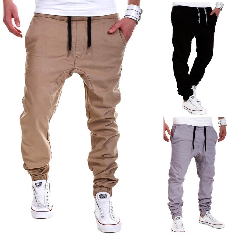 78704e4c729 Wholesale-Mens Joggers Sport Pants Men Hip-hop Drop Crotch ...