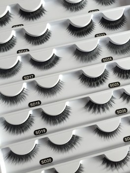 cb8fe14d87f Wholesale premium 3D silk lashes faux mink lashes customized package OEM