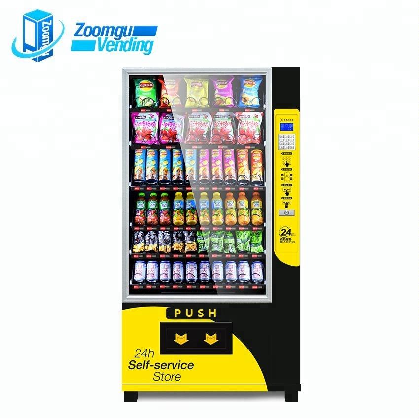 Zoomgu Große kapazität automatische combo snacks getränke vending maschinen