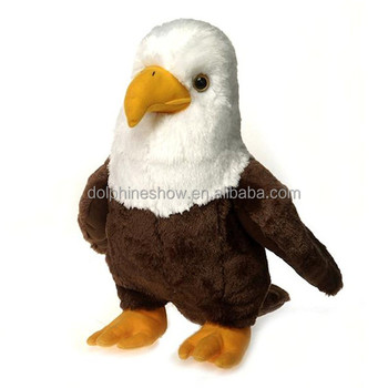 Fashion New Bald Hawk Eagle Plush Toy Custom Lifelike Fur Wild Animal Stuffed Soft Plush Eagle