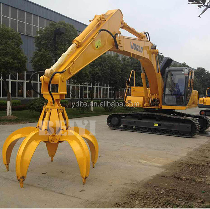 LYD produce scrap handling orange peel grab equipment log stone grapples with 5 finger grapple for sale