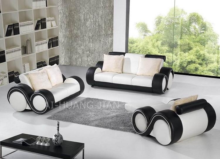 HOT SALE cheap 1+2+3 modern leather teak wood sofa set designs ...