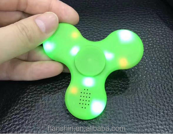 Wholesale hand Fidget Spinner Bluetooth wirless <strong>Speaker</strong> with led light for Release Pressure