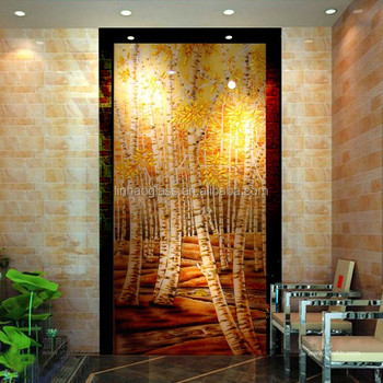 Linhao Decorative Glass Wall Panels Buy Glass Painting Designs For Living Room Large Glass Panels Decorative Wall Covering Panels Product On