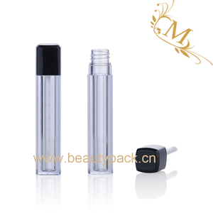 New fashion plastic lip gloss bottles soft square empty liquid lipstick packaging lipgloss container tube