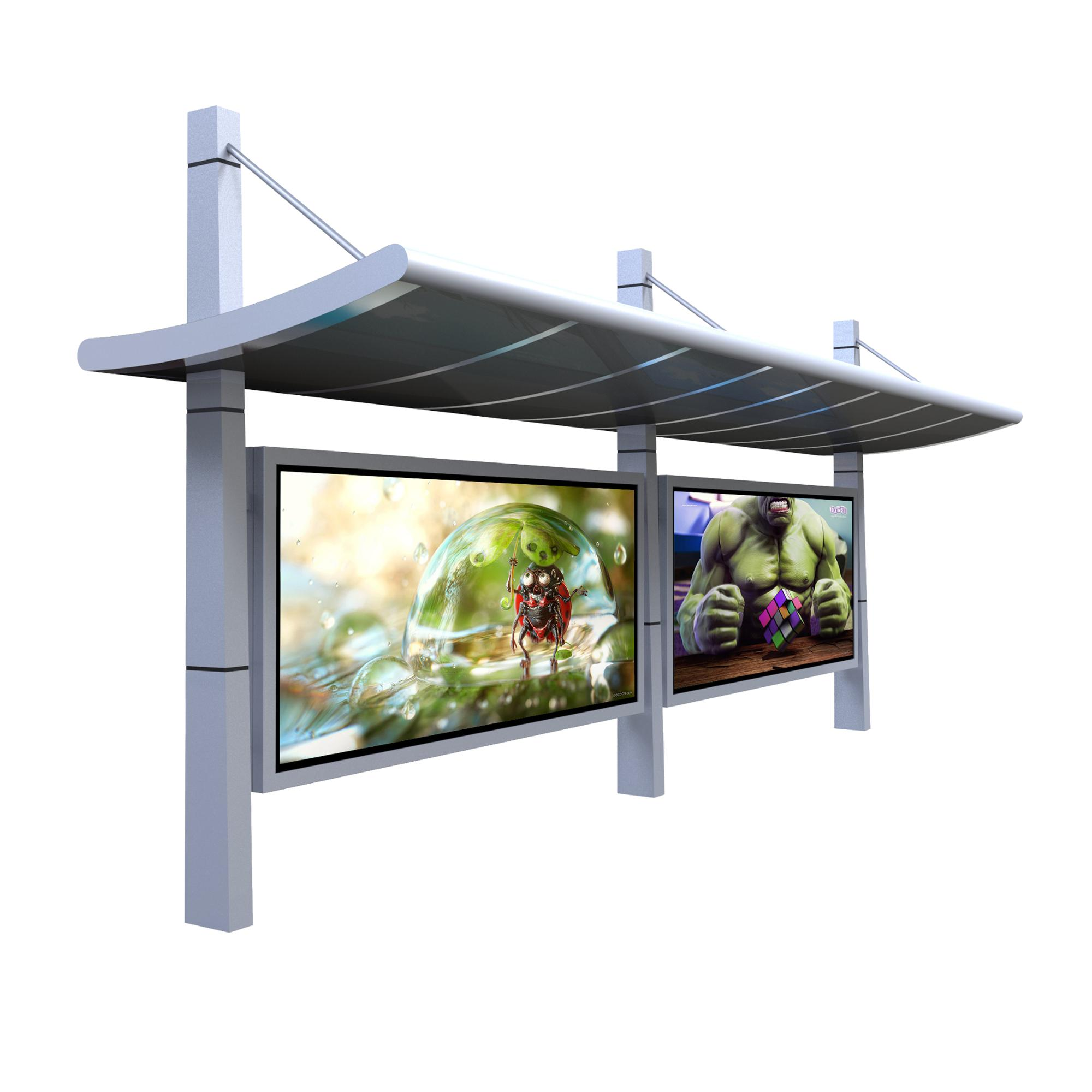 product-YEROO-Small-scale bus waiting shed solar powered bus stopshelter-img-3