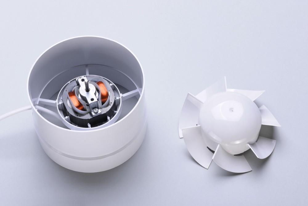 Pvc Inline Exhaust Fan : Inch plastic inline axial duct fan wall mount pipe