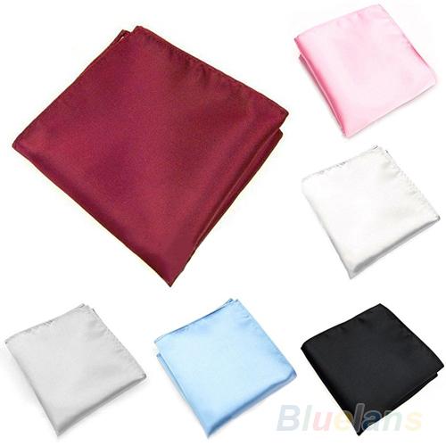 Людей шелковый атлас носовых платков обычная сплошной цвет ну вечеринку квадратные платками 02WI 45AT