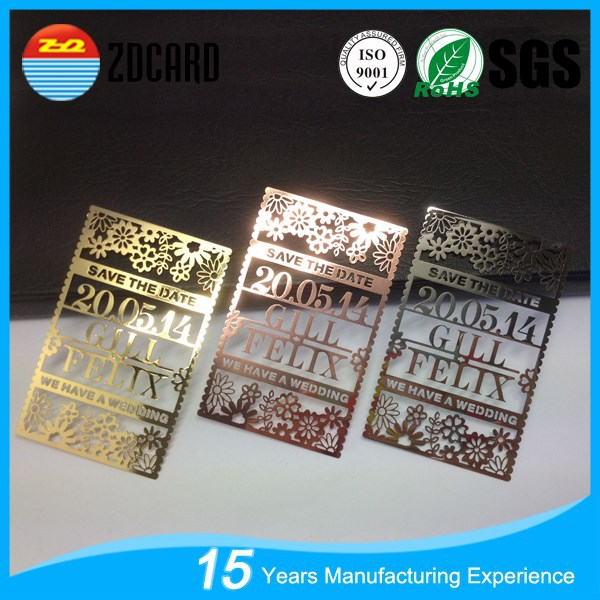 OEM fashion metal business cards china
