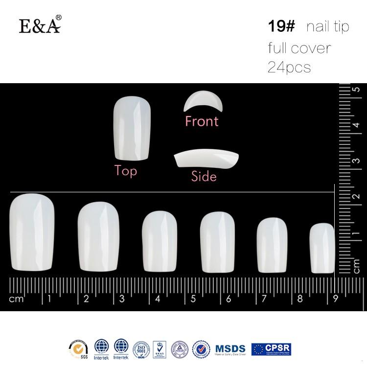 Ea Acrylic Nail Kit Full Cover Curved Acrylic Nail Tips Transparent ...