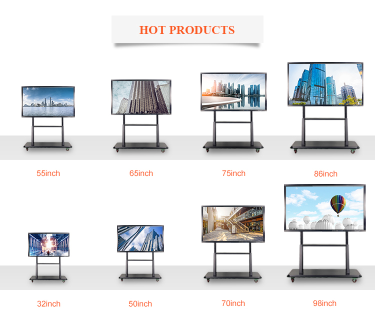 Cheap 32inch touch screen smart  pc tv all in onewhiteboard  with built in OPS i5 CORE