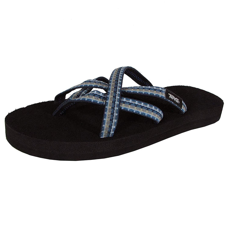 08962f84c Get Quotations · Teva Womens Olowahu Webbing Flip Flop Sandal Shoes