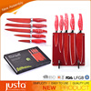 5 pcs high quality red chef knife,kitchen knife set