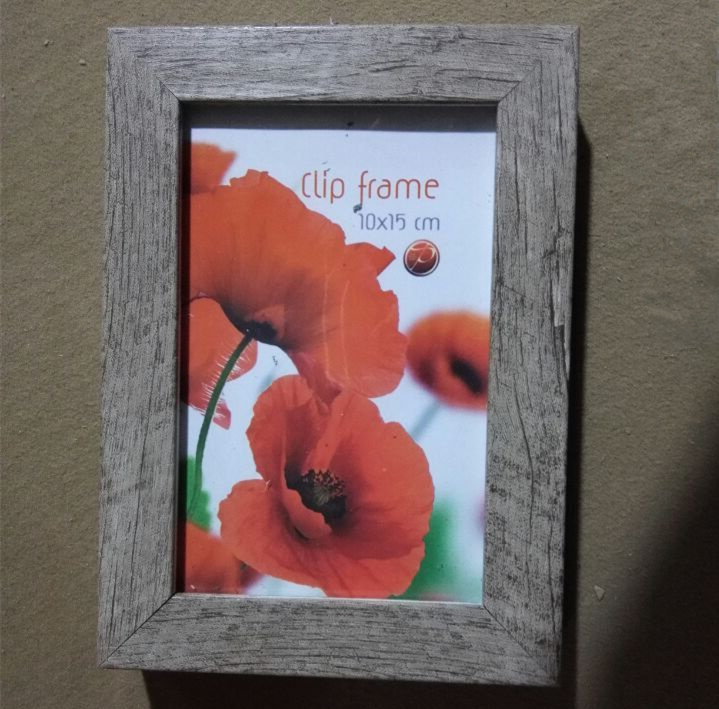 OEM Antique distress finished wooden plastic photo frame PS picture frame 5x7 6x8 11x14 18x24