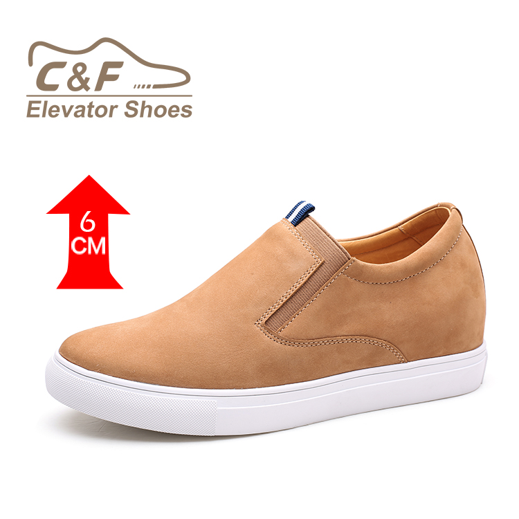 Brown Elevator CF Height Fashion 2018 Mens Increasing Breathable Casual Shoes 5wwqXHf