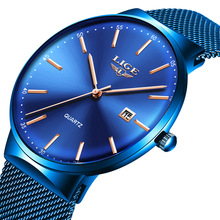 Ultra Thin Watch Waterproof Quartz Minimalist  Wrist Watches Unisex Business Dress Casual Watch Men