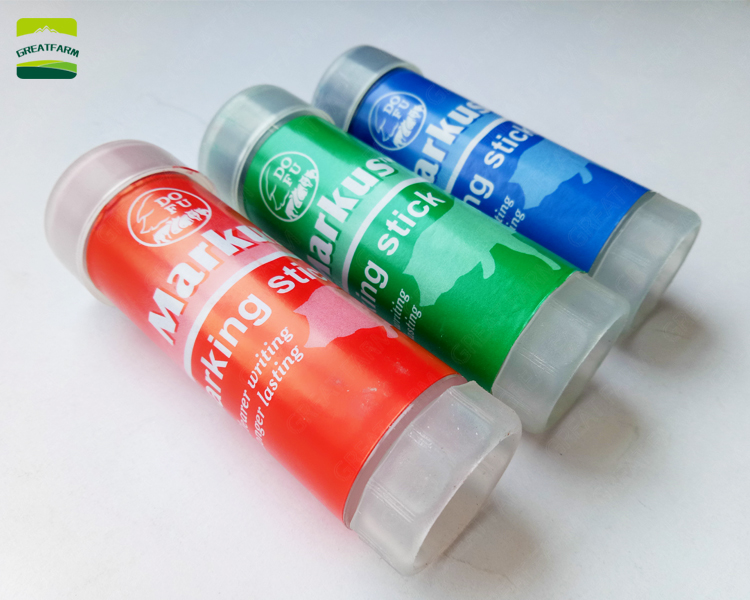 GREAT FARM wholesale red green blue animal marker pen animal body mark crayon pig marking crayon