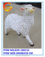 Geno hot selling moderate-sized resin sheep farm animals