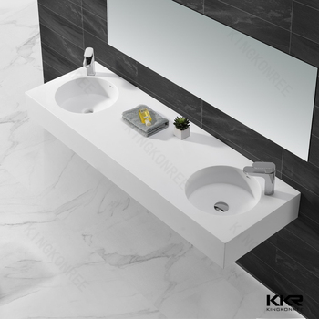 Matt White Bathroom Corner Double Sinks Molded Bathroom Sinks - Molded bathroom sinks