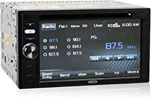 "Jensen Vm9125 In-dash Double DIN 6.2"" Touchscreen Vm Cd/dvd/mp3 Car Stereo Receiver w/ Monitor & Ipod Controls"