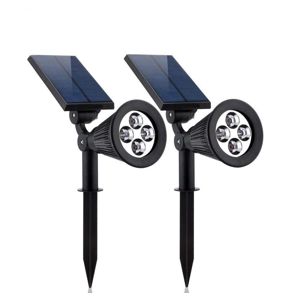 FidgetFidget LED Solar Spotlight Adjustable 2Pcs Solar Lights URPOWER 2-in-1 Waterproof 4