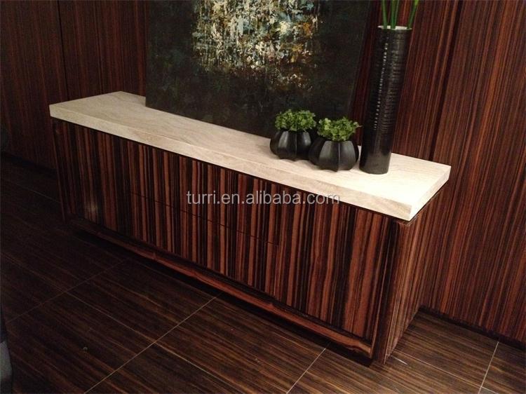 Credenza Con Piano In Marmo : Modern luxury ebano impiallacciatura credenza con piano in marmo