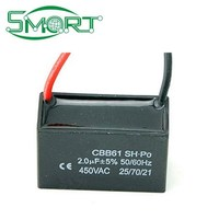 Smart bes CBB61 Fan Capacitor, Start Capacitor 2UF/450V with 10cm wire Capacitor CBB61