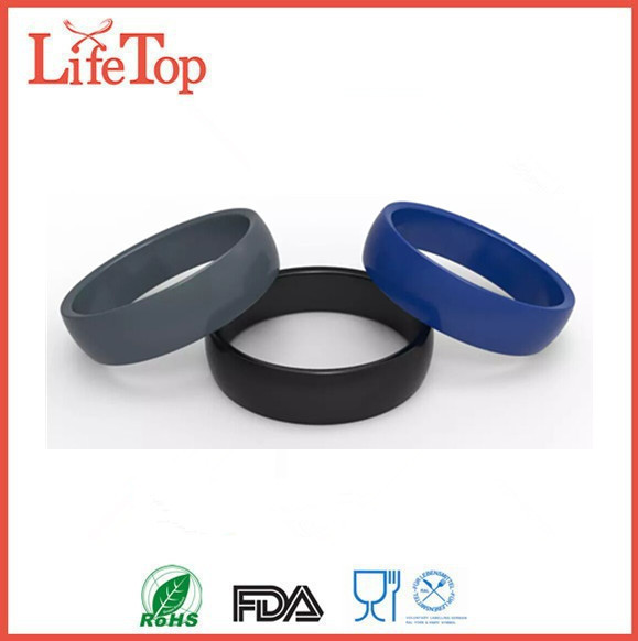 mens silicone wedding ring made of hypoallergenic medical grade silicone wedding band ring - Hypoallergenic Wedding Rings