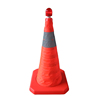 used Rubber Fluorescent Orange PVC Road Traffic Cones