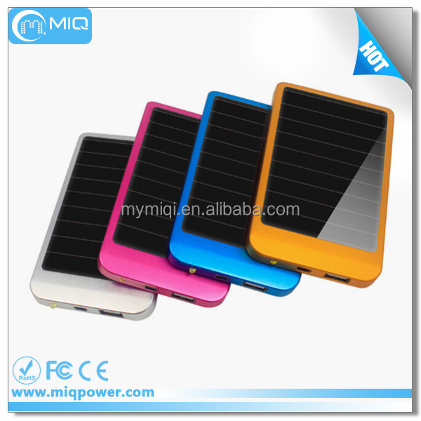 MIQ top seller 3500mah cell phone solar battery charger with usb solar charger