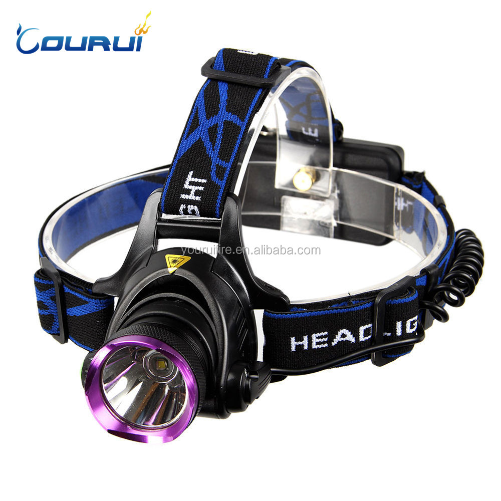 COURUI XML T6 LED Headlight Rechargeable USB LED Headlamp Light Torch