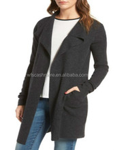 Women Long Sleeves Cashmere Cardigan For Lady