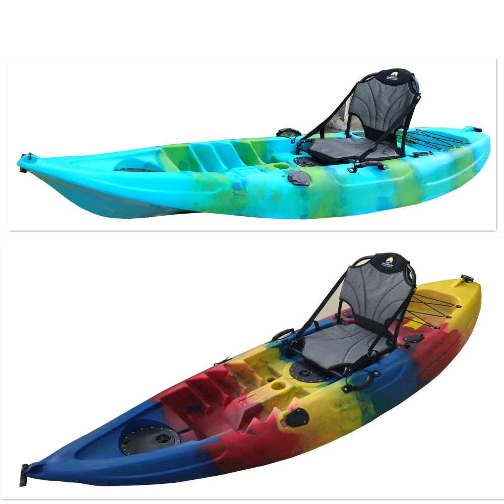 single kayak with aluminum seat good for fishing very hot in Australia