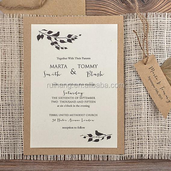 Rustic Country Vintage Burlap Wedding Invitation Cards - Buy ...